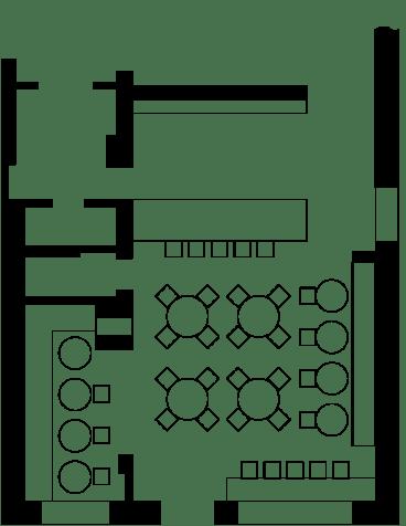 Interior for fast food restaurant